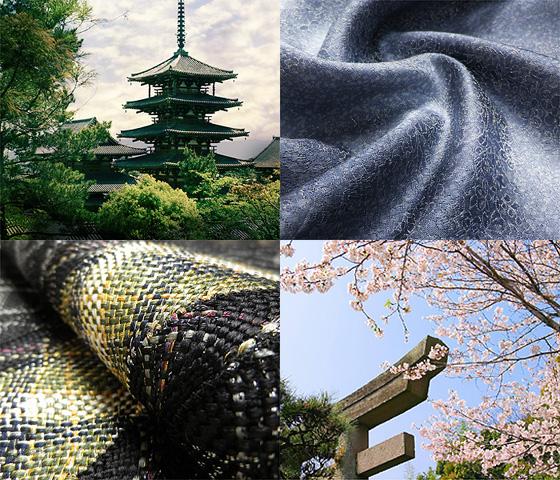 日本の伝統工芸と寺社風景