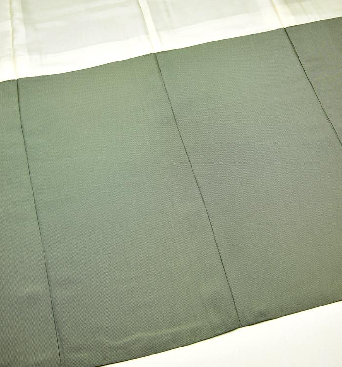 江戸小紋、万筋、グレーグリーン系、裏地八掛画像