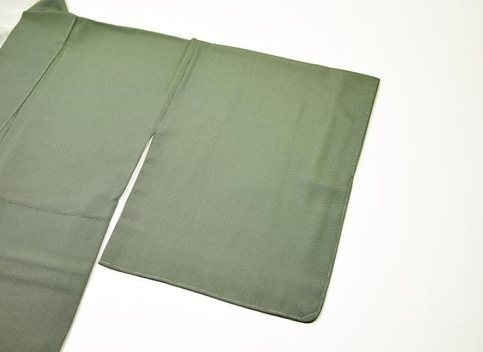 江戸小紋、万筋、グレーグリーン系、袖模様画像