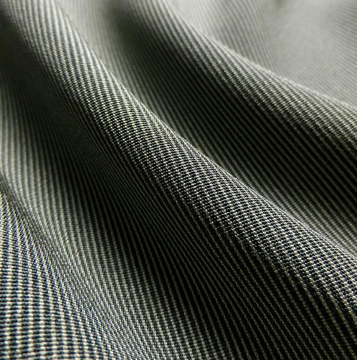 江戸小紋、万筋、グレーグリーン系、生地の質感画像