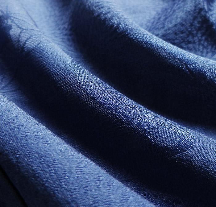 長襦袢、ブルー、鈴文、生地の質感画像
