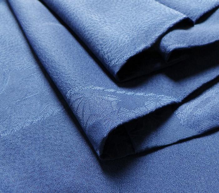長襦袢、ブルー、鈴文、生地の厚み画像