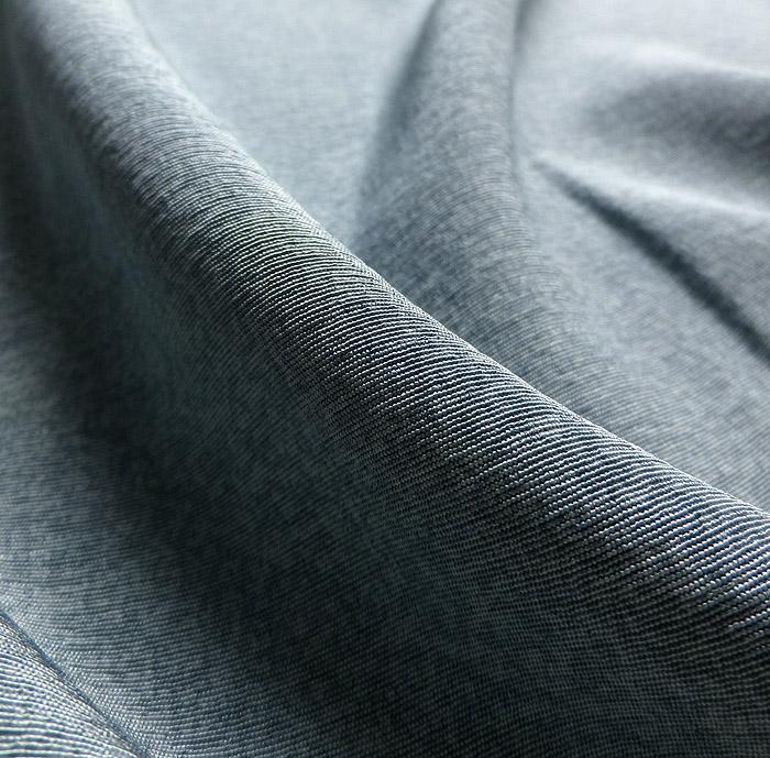 附下訪問着、銀花仙、ブルーグリーン系裾ぼかし、生地の質感画像