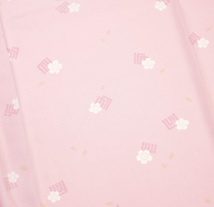 夏着物、絽、小紋、ピンク、源氏香桜、柄行模様