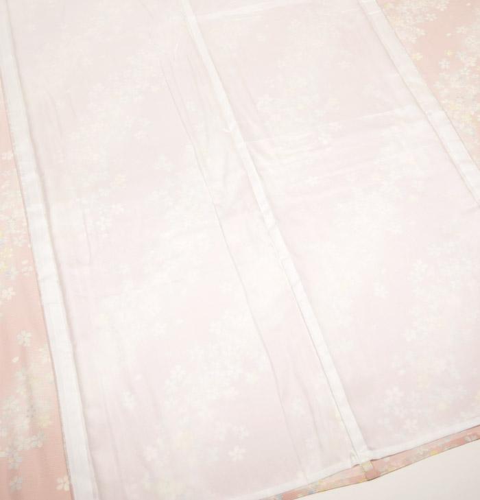夏着物、絽、小紋、ピンク桜、裏地画像1