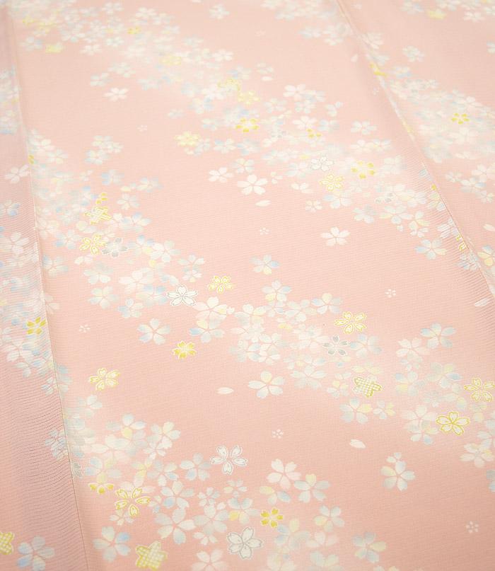 夏着物、絽、小紋、ピンク桜、柄行模様画像1