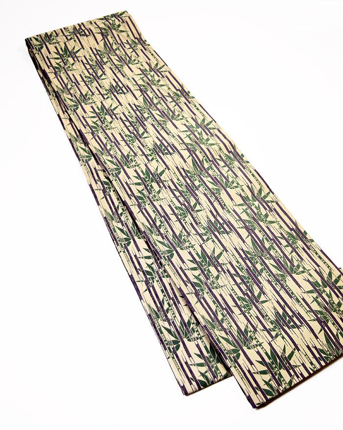 袋帯、全通リバーシブル、草木染、懐古文、表面全体柄
