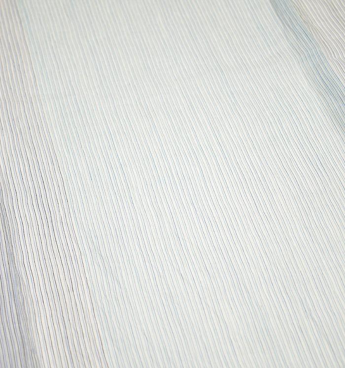 夏着物、小千谷ちぢみ、ライトブルー、細縞、柄行模様画像2