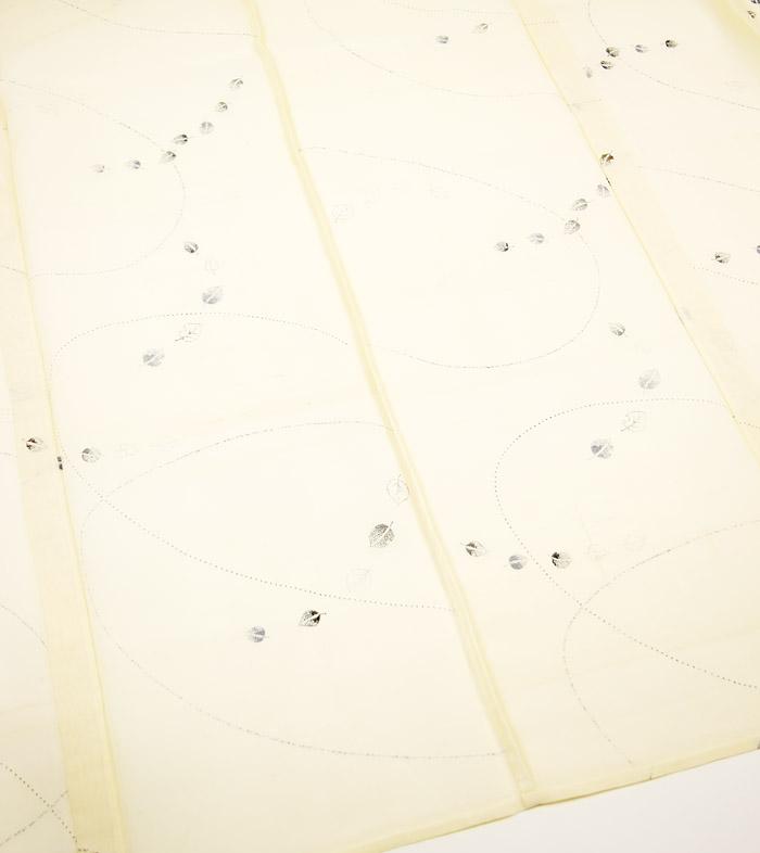 夏着物、夏芭蕉(絹芭蕉)、伝統工芸士、白川貞夫、葉文、裏地画像1
