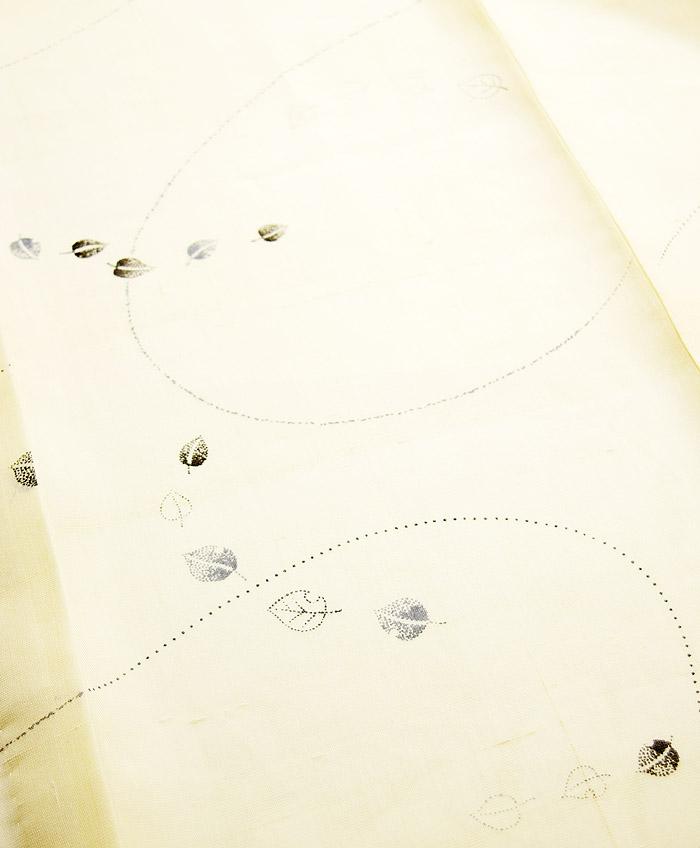 夏着物、夏芭蕉(絹芭蕉)、伝統工芸士、白川貞夫、葉文、柄行模様画像1