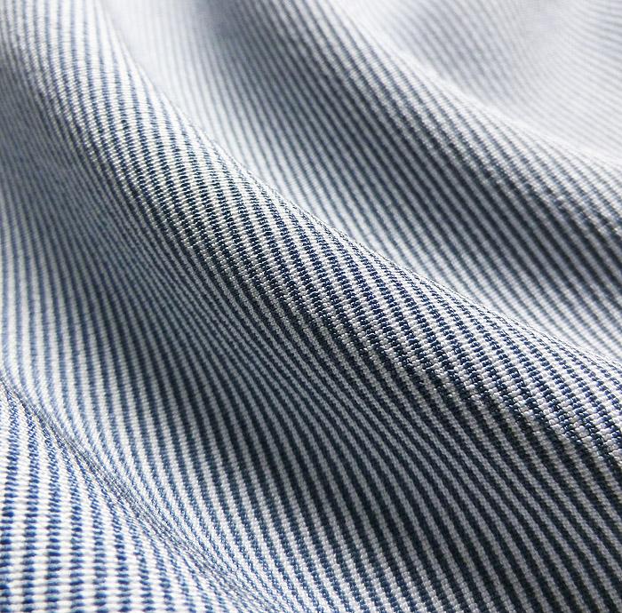 単衣江戸小紋、ライトブルー系、万筋、生地の質感画像