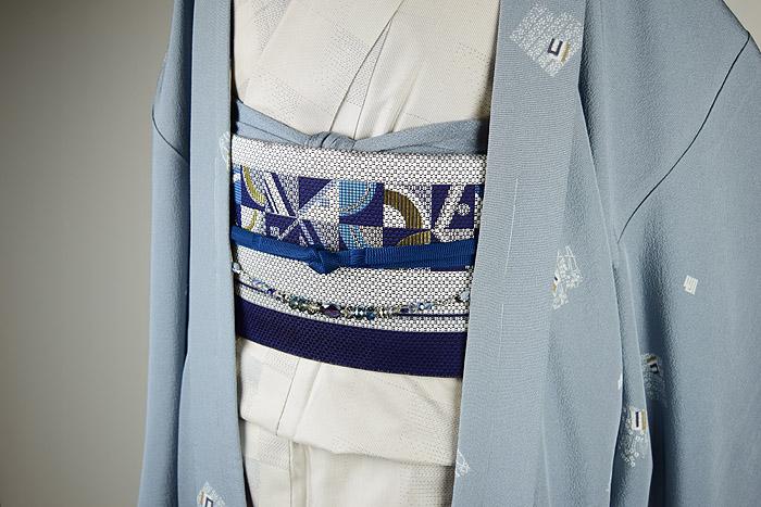 長羽織、グレーブルー系、源氏香、前画像