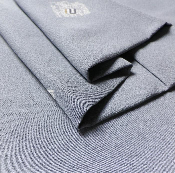 長羽織、グレーブルー系、源氏香、生地の厚み