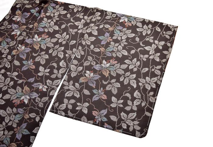 泥大島紬、葉花文、袖柄行画像