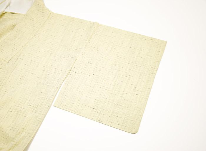 単衣、ぜんまい紬、生成色、裏地、居敷当画像2