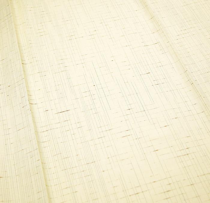 単衣、ぜんまい紬、生成色、柄行模様画像2