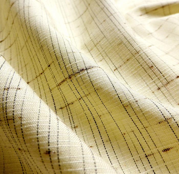 単衣、ぜんまい紬、生成色、生地の質感画像