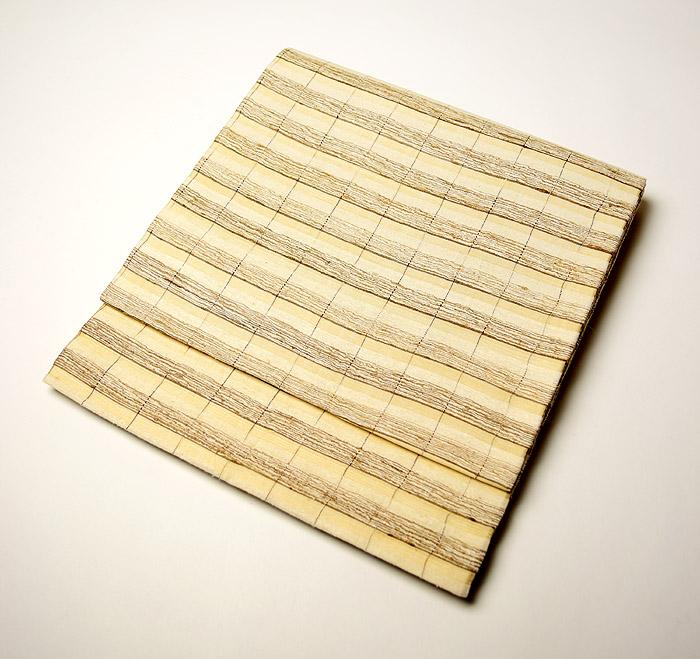 袋帯、全通、野蚕糸、横段、お太鼓画像