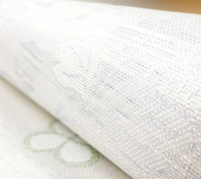 夏袋帯、六通、紗、唐草花びら文、生地の質感画像