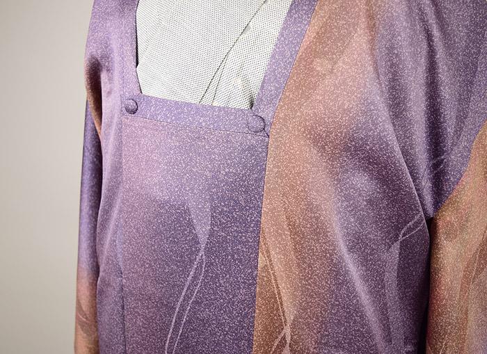 道行、斉藤三才、霰紫ぼかし、胸元画像