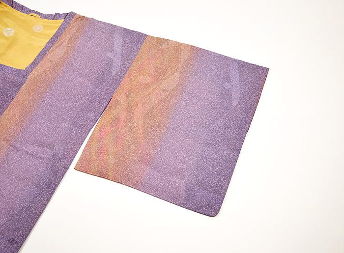 道行、斉藤三才、霰紫ぼかし、袖画像
