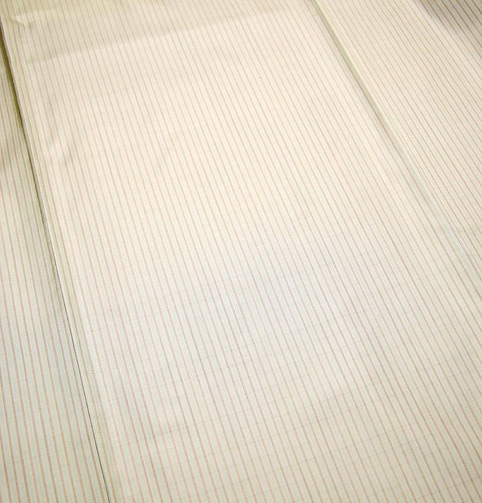 大島紬、ベージュ、縞、柄行模様画像2
