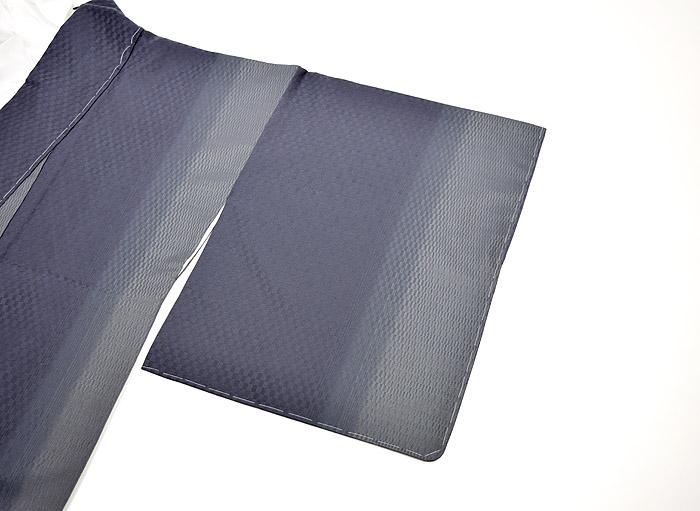 紬、紺、綾織、裏地、袖画像