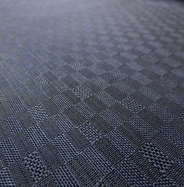 紬、紺、綾織、生地のアップ画像