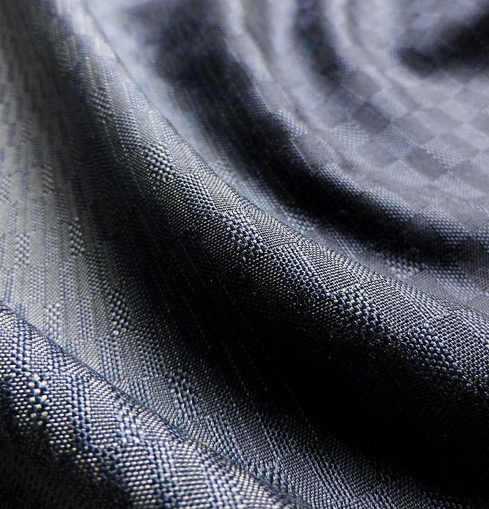 紬、紺、綾織、生地の質感画像