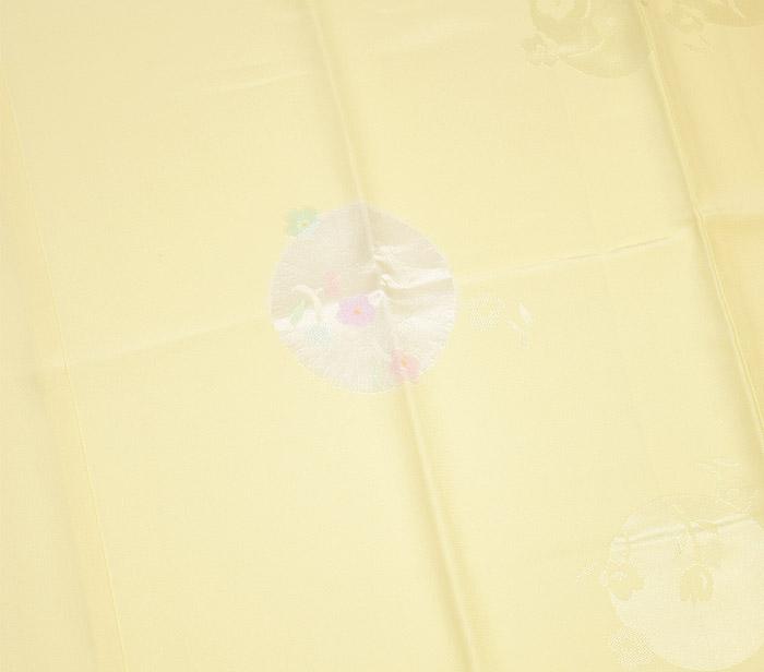 長襦袢、クリーム色、花丸文、柄行模様画像